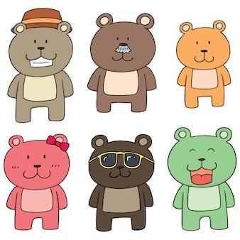 Conjunto de família de urso