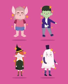 Conjunto de fantasias de halloween