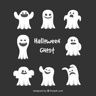 Conjunto de fantasmas bonitos