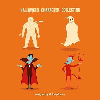 Conjunto de fantasmas e outros personagens