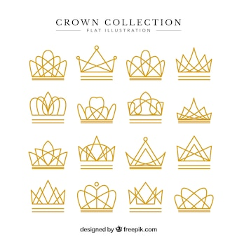 Conjunto de fantásticas coroas lineares