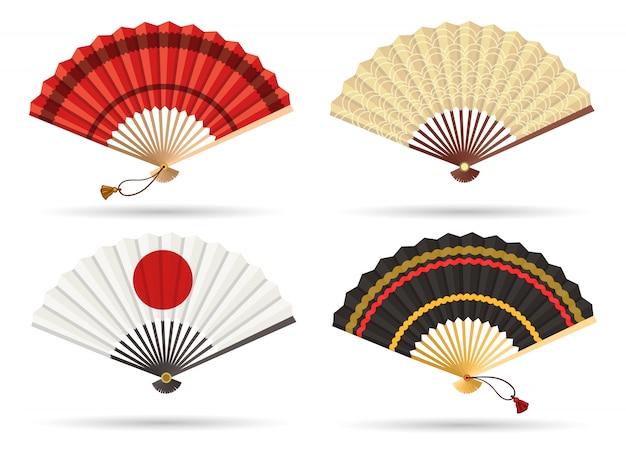 Conjunto de fãs do japão oriental