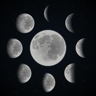 Conjunto de fases da lua