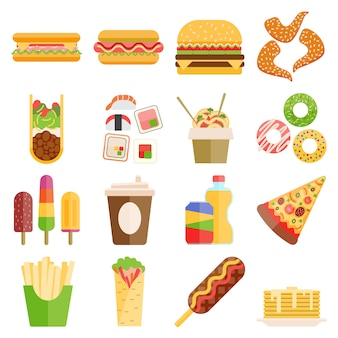 Conjunto de fast-food.