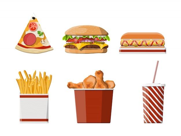 Conjunto de fast-food