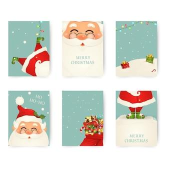 Conjunto de feliz natal e feliz ano novo