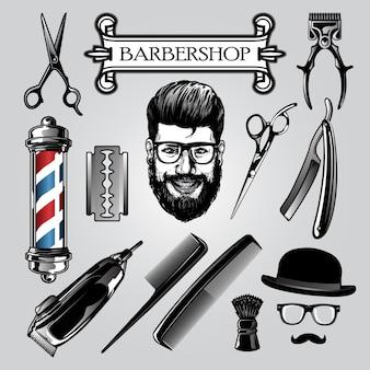 Conjunto de ferramentas de barbeiro