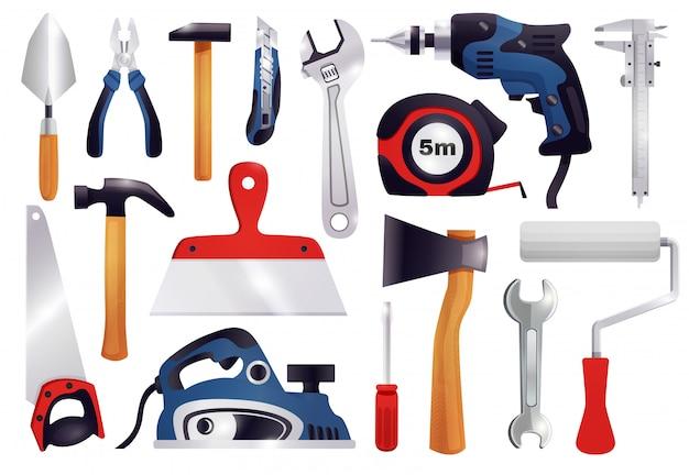 Conjunto de ferramentas de carpintaria para renovação de reparo