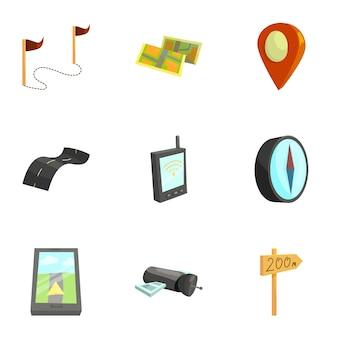 Conjunto de ferramentas de cartografia e geografia