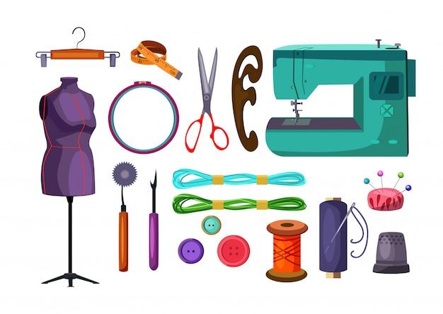 Conjunto de ferramentas de costura