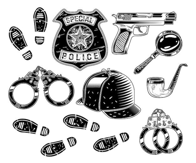 Conjunto de ferramentas de detetive