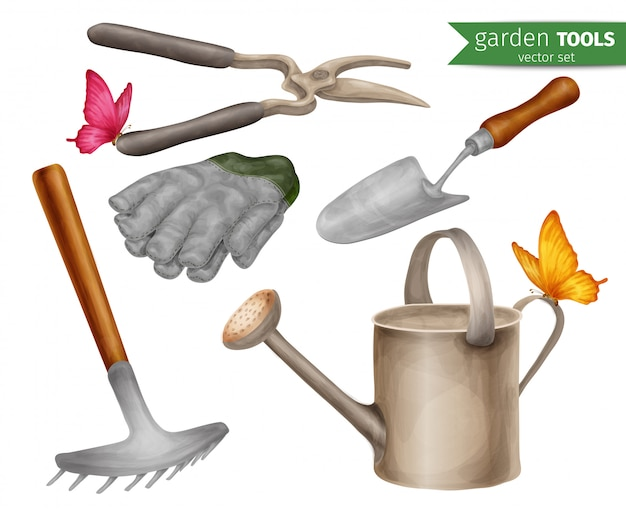 Conjunto de ferramentas de jardim
