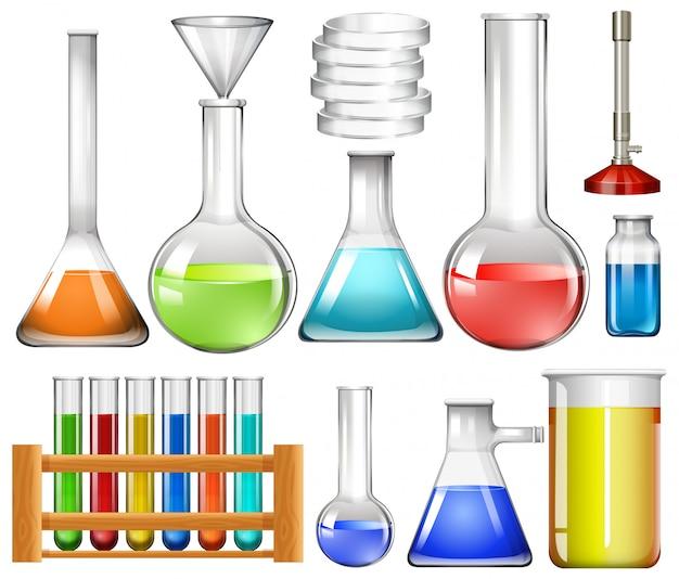 Conjunto de ferramentas de laboratório