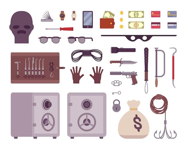 Conjunto de ferramentas de ladrão