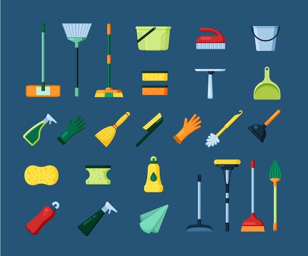 Conjunto de ferramentas de limpeza doméstica