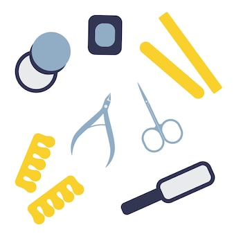 Conjunto de ferramentas de manicure e pedicure instrumentos profissionais e domésticos para cuidar das unhas