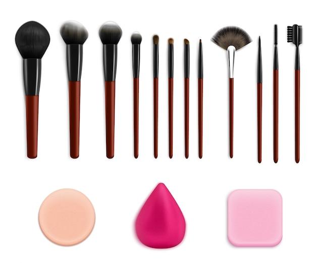 Conjunto de ferramentas de maquiagem cosmética