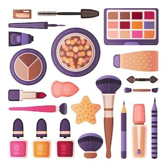 Conjunto de ferramentas de maquiagem facial
