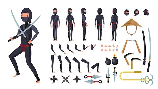Conjunto de ferramentas de ninja.