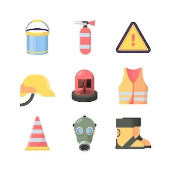 Conjunto de ferramentas de proteção de trabalho