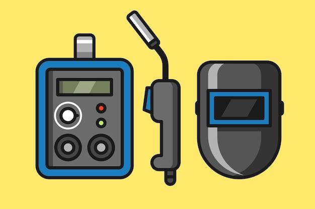 Conjunto de ferramentas de soldagem ilustração da máquina de lavar