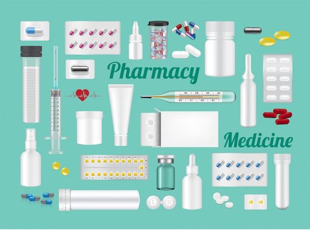 Conjunto de ferramentas e equipamentos hospitalares