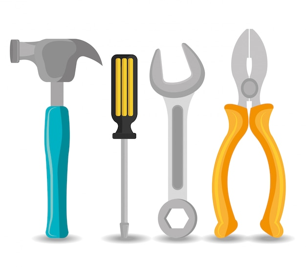 Conjunto de ferramentas em branco