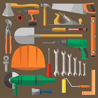 Conjunto de ferramentas para construção