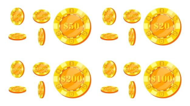 Conjunto de fichas de pôquer