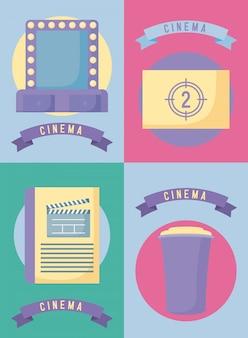 Conjunto de filme de cinema