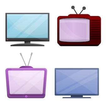 Conjunto de filmes em casa, estilo cartoon