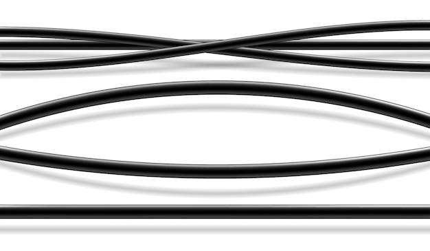 Conjunto de fios elétricos isolados realista