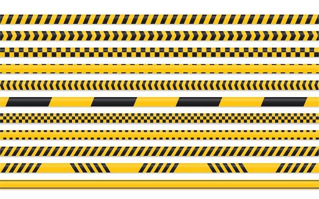 Conjunto de fita amarela preta