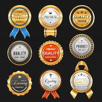 Conjunto de fita de prêmio de melhor produto