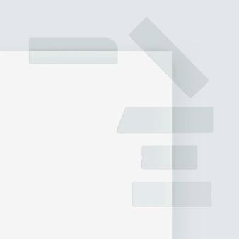 Conjunto de fitas adesivas adesivas adesivas de papel de mascaramento isoladas no branco