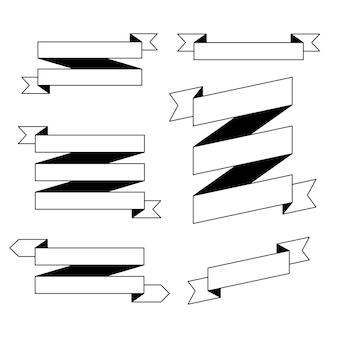 Conjunto de fitas de contorno em branco