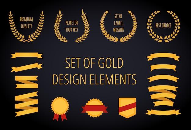Conjunto de fitas de ouro
