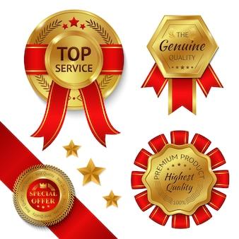 Conjunto de fitas de prêmio