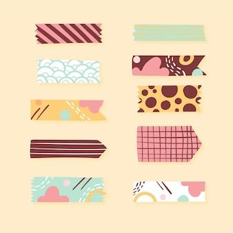 Conjunto de fitas decorativas washi