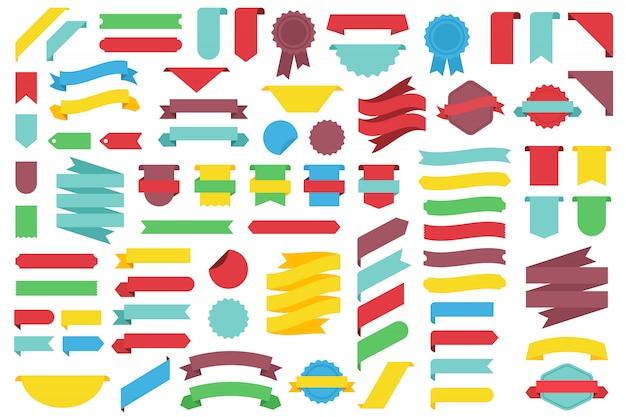 Conjunto de fitas decorativas.