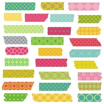 Conjunto de fitas e adesivos