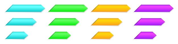 Conjunto de fitas em branco, marcadores ou etiquetas