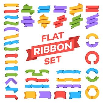 Conjunto de fitas. etiquetas de decoração banner etiqueta premium, fita retrô de preço, venda adesivo distintivo vector cor mensagem símbolos