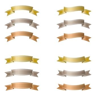 Conjunto de fitas isoladas em um fundo branco.