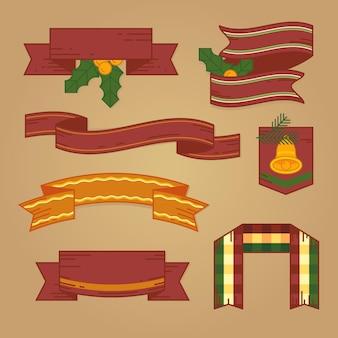 Conjunto de fitas vintage de natal