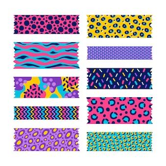 Conjunto de fitas washi desenhado
