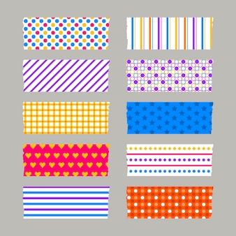 Conjunto de fitas washi diferentes