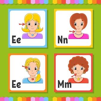 Conjunto de flashcards de alfabeto inglês
