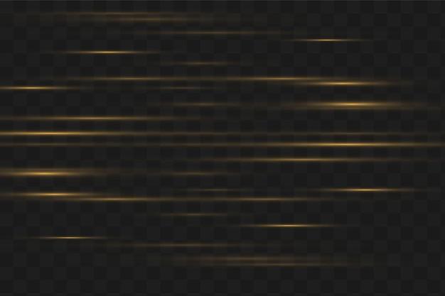 Conjunto de flashes, luzes, brilhos. brilhos de ouro brilhantes. luzes douradas abstratas