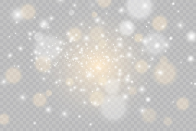Conjunto de flashes, luzes e brilhos. ouro brilhante pisca e brilha. abstratas luzes douradas isoladas